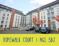 Nottingham Student Accommodation Ropewalk Court