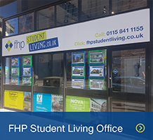 Nottingham student living office