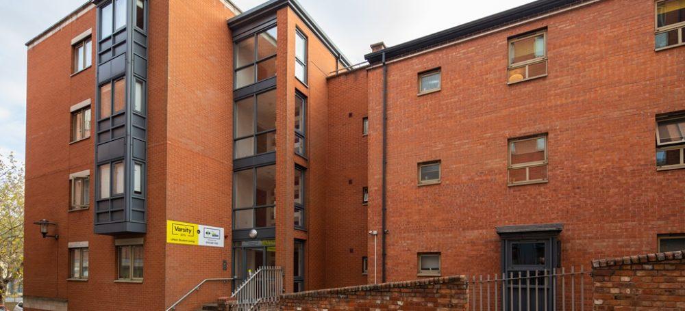 outside varsity student accommodation nottingham