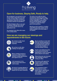 Nottingham estate agent - open for business